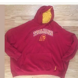 CADRE USC TROJANS Solid Red Graphic Hoodie